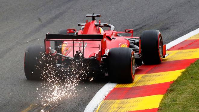 Sebastian Vettel und Ferrari können in Spa nicht mithalten