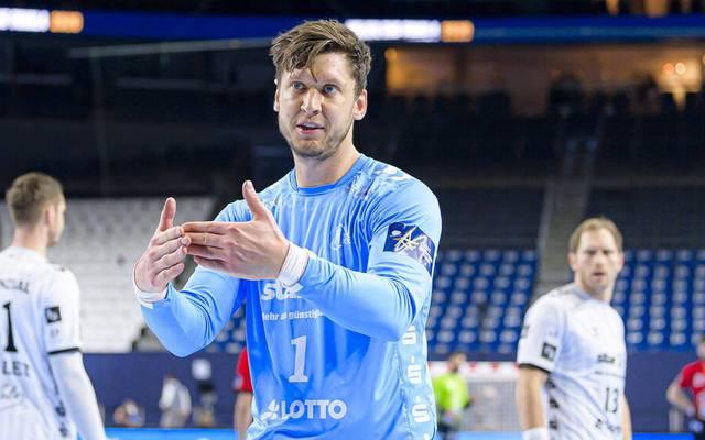 Niklas Landin verzichtete vorsorglich auf einen Einsatz gegen Coburg - wie auch sein Bruder