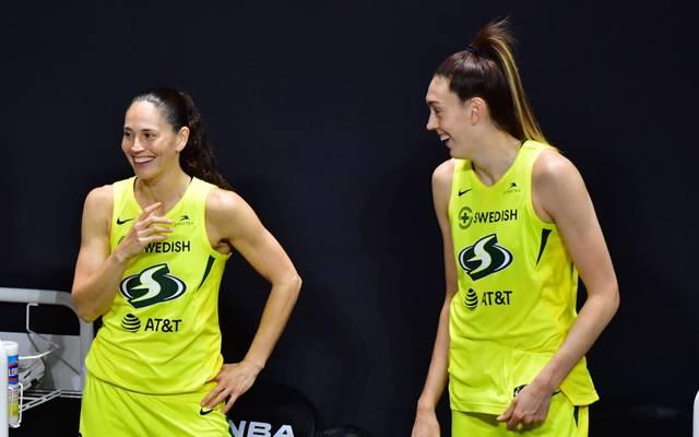 Sue Bird (l.) und Breanna Stewart bescheren Seattle Storm den vierten Titel