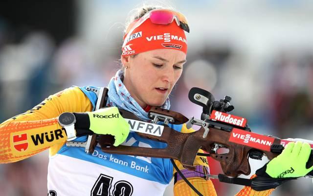 Denise Herrmann fehlten nur etwas mehr als neun Sekunden aufs Podest