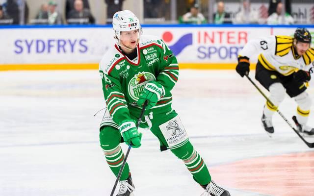 Eishockey-Talent Dominik Bokk im Trikot von Rögle BK
