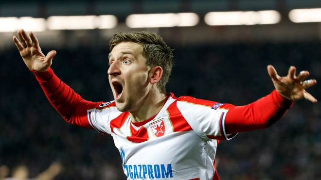 BELGRADE, SERBIA - DECEMBER 11: Marko Marin of Red Star Belgrade reacts during the UEFA Champions League Group C match between Red Star Belgrade and Paris Saint-Germain at Rajko Mitic Stadium on December 11, 2018 in Belgrade, Serbia. (Photo by Srdjan Stevanovic/Getty Images)