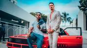 Renato Sanches (l.) und Sandro Wagner posieren wie Rico und Sonny in Miami Vice