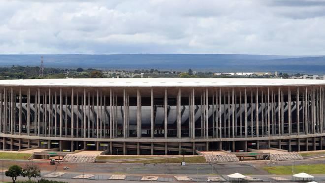 Im WM-Stadion von Brasilia werden Covid-19 Patienten behandelt