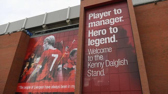 Seit 2017 ist in Anfield eine Tribüne nach Liverpool-Legende Kenny Dalglish benannt