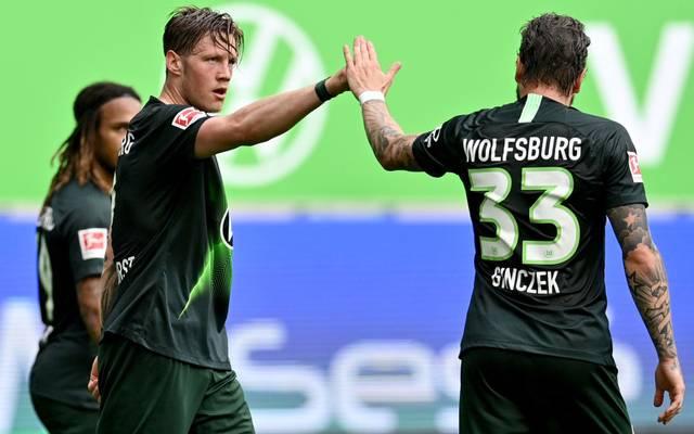 Wout Weghorst (Mi.) strebt nach Höherem als den VfL Wolfsburg