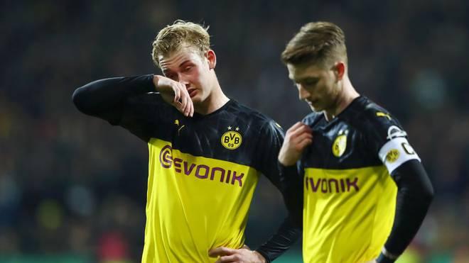 Julian Brandt (l.) fehlt dem BVB gegen Paris