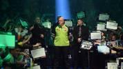 Michael van Gerwen gewann 2014, 2017 und 2019 die Darts-WM der PDC