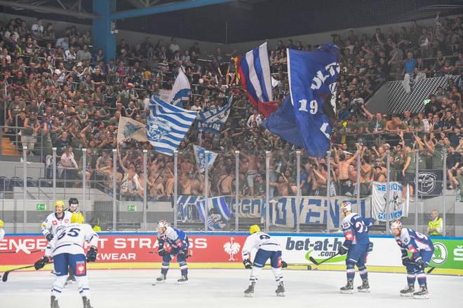 Rund 800 Fans begleiteten den HC Ambrì-Piotta zum ersten CHL-Spiel beim EHC Red Bull München