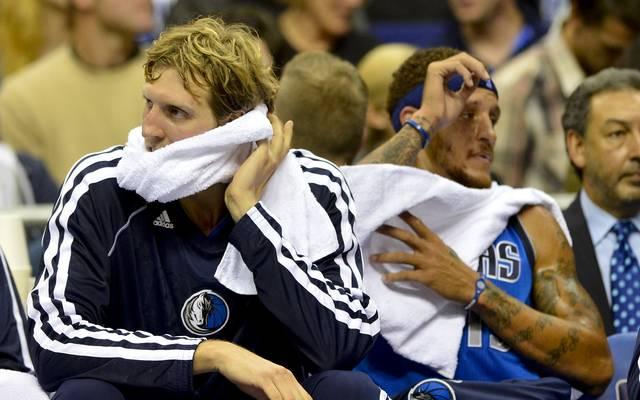 Delonte West (r.) spielte in der Saison 2011/2012 für die Dallas Mavericks an der Seite von Dirk Nowitzki (l.)