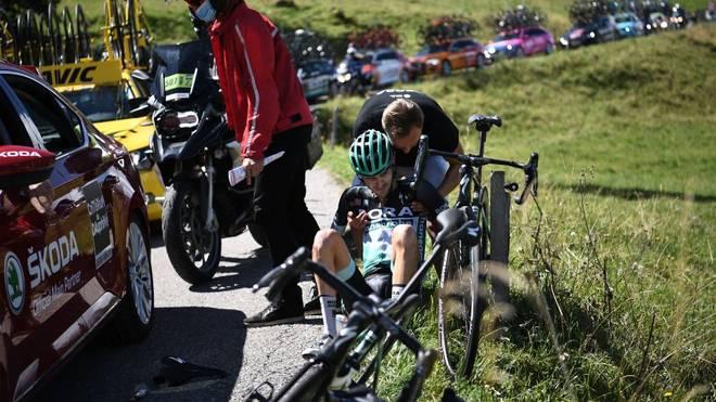 Emanuel Buchmann war auf der vorletzten Etappe des Critérium du Dauphiné in einen Sturz verwickelt
