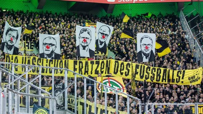 Kreativer Protest der BVB-Ultras