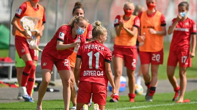 Die Frauen von Bayer Leverkusen feierten Einzug ins Pokal-Halbfinale