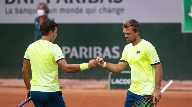 Kevin Krawietz und Andreas Mies stehen im Halbfinale der French Open