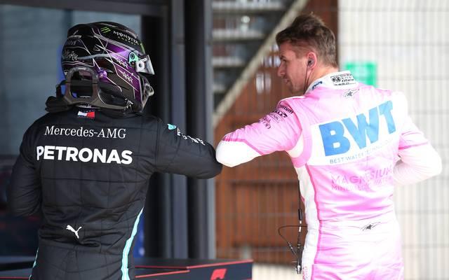 Lewis Hamilton (l.) bekam 2013 den Vorzug vor Nico Hülkenberg bei Mercedes