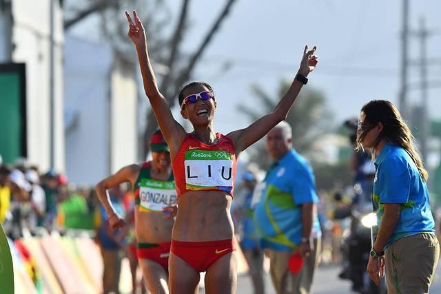 Die Chinesin Liu Hong ist aktuelle Weltrekordhalterin über die 20-km-Gehen