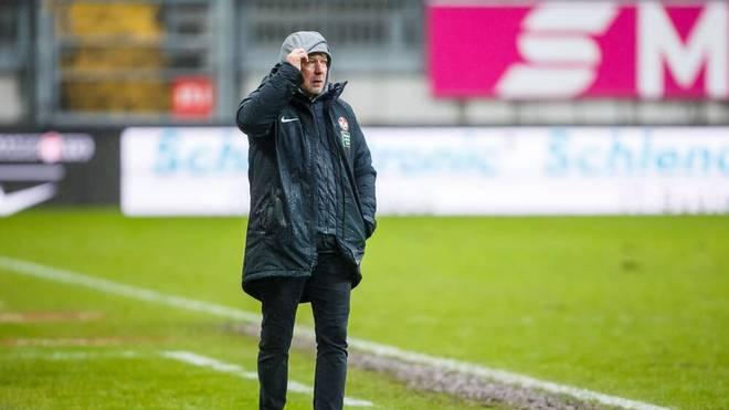 Die 0:1-Niederlage gegen Wehen Wiesbaden war Jeff Saibenes letztes Spiel als FCK-Trainer