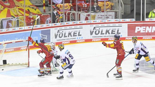 Die Düsseldorfer EG besiegte die Eisbären Berlin