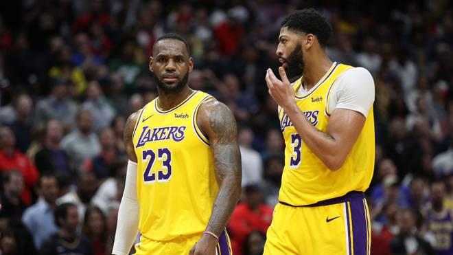 LeBron James (l.) und Anthony Davis waren von den Utah Jazz nicht zu stoppen