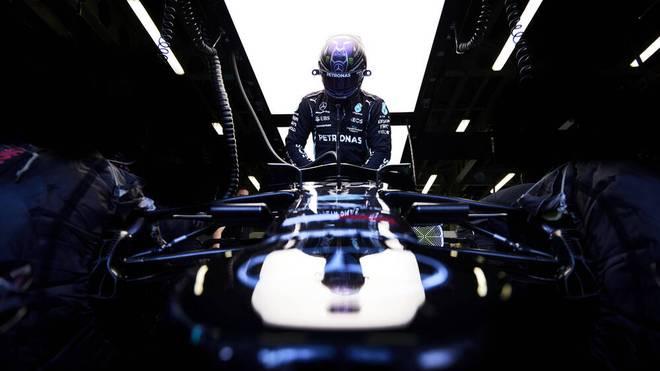 Lewis Hamilton kämpft in Baku um den Speed