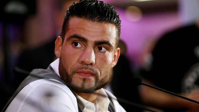 MANCHESTER, ENGLAND - MAY 01:  Manuel Charr during a press conference to announce his upcoming Heavyweight bout against David Haye at Manchester Arena on May 1, 2013 in Manchester, England.  (Photo by Scott Heavey/Getty Images)