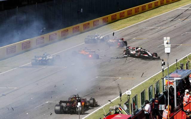 Die Anfangsphase des Großen Preises der Toskana hatte es mit mehreren Crashs in sich