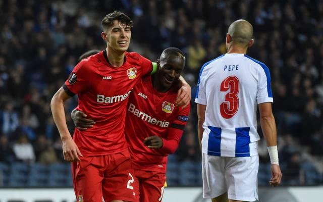 Kai Havertz (l.) erzielte in Porto das 0:3