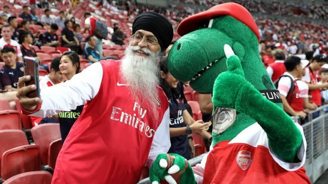 Das Gunnersaurus hat bei den Arsenal-Fans längst Kultstatus