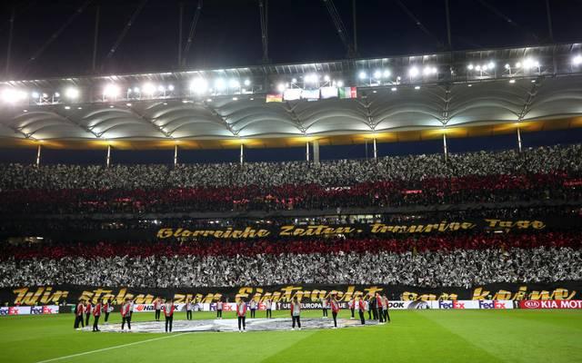 Eintracht-Fans sorgten in der Europa League immer wieder für Spektakel