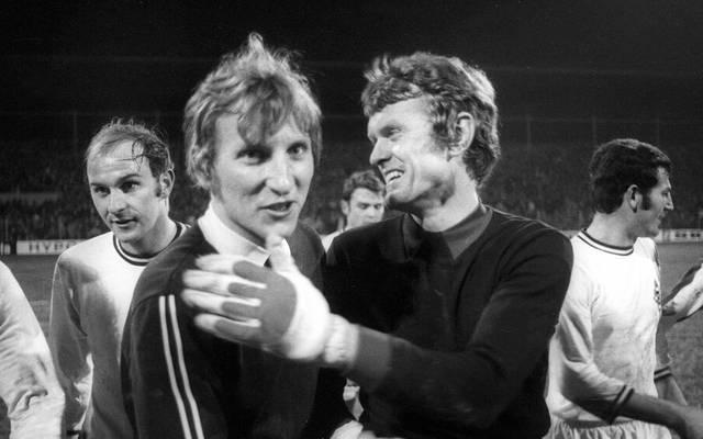 Zwei Spaßvögel: Wolfgang Kleff und Sepp Maier verband ein besonderes Verhältnis