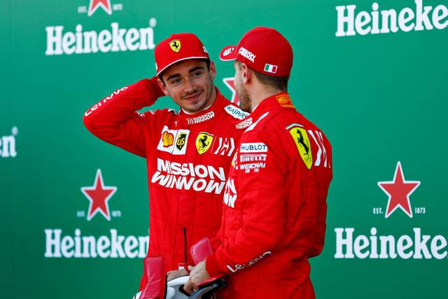 Charles Leclerc und Sebastian Vettel waren sich in der vergangenen Saison auf der Strecke nicht immer grün
