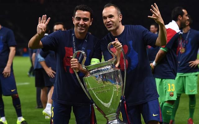 Xavi und Andres Iniesta - auf dem Platz stets ein absolutes Traum-Duo