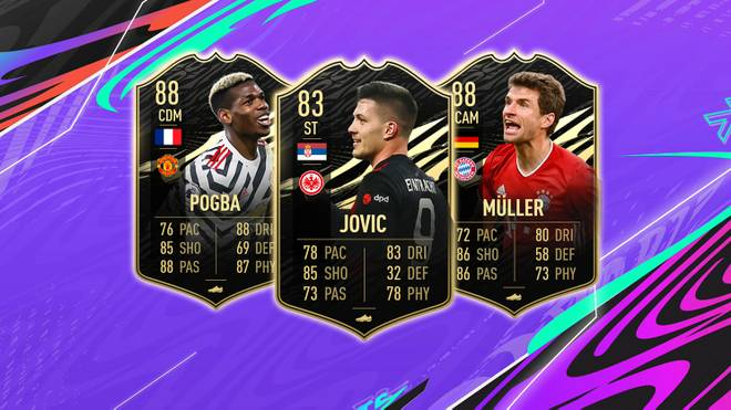 Das neue FIFA Ultimate Team der Woche mit Paul Pogba, Luca Jovic und Thomas Müller