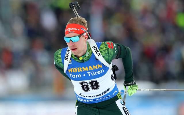 Johannes Kühn ist der beste Deutsche beim Weltcup in Hochfilzen