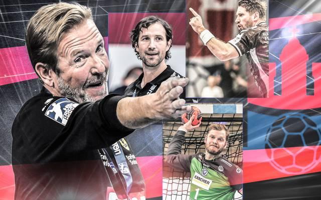 Trainer Martin Schwalb (l.) gewann 2013 mit dem HSV Handball die Champions League
