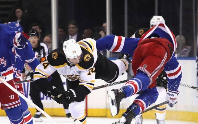 Zwischen den Boston Bruins und den New York Rangers geht es meist heiß her