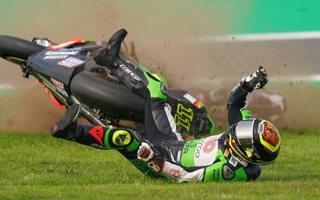 Sandro Cortese stürzt in der Superbike-WM schwer