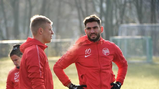 Nejmeddin Daghfous (r.) wurde bei Kickers Offenbach fristlos entlassen
