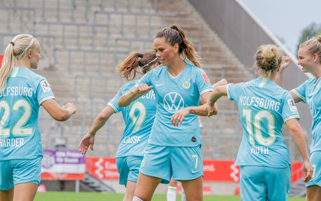 Die Frauen des VfL Wolfsburg feierten in Essen einen souveränen Sieg