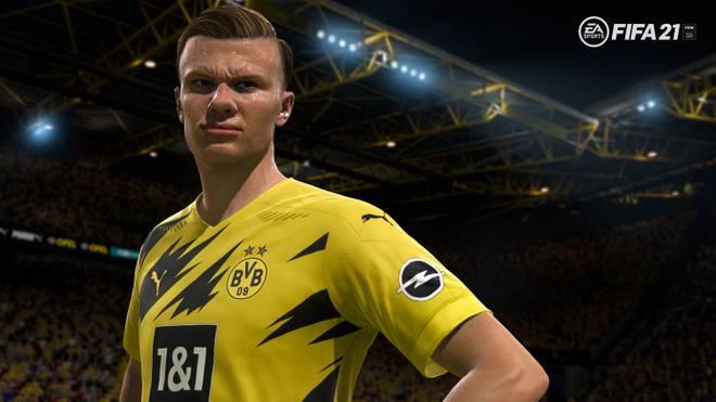 Erling Haaland wird auch in FIFA 21 für Dortmund auflaufen