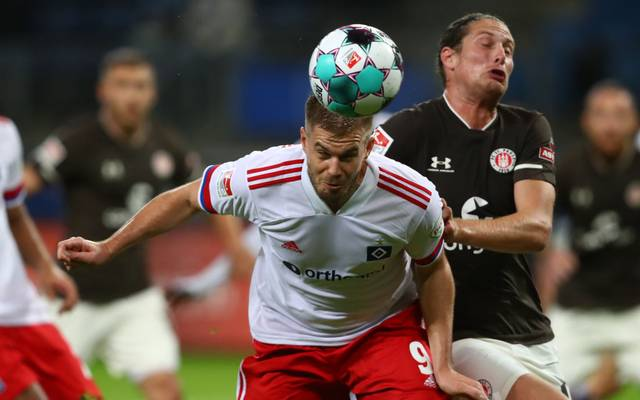 Simon Terodde traf gegen St. Pauli zwei Mal
