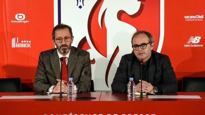 Luis Campos (r., mit Generaldirektor Marc Ingla) ist erfolgreicher Sportchef beim OSC Lille
