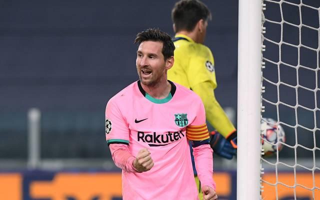 Lionel Messi traf in Turin per Elfmeter für den FC Barcelona