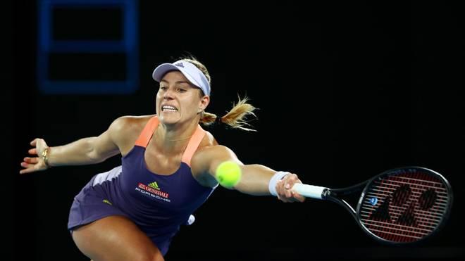 Bei den Australian Open gewinnt Angelique Kerber ihr Auftaktmatch