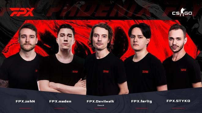 Eingespieltes Team: Das ehemalige GODSENT-Roster geht jetzt für FPX an den Start