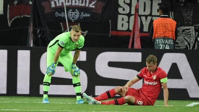 Lukas Hradecky leistete sich gegen Lokomotive Moskau einen fatalen Fehlpass
