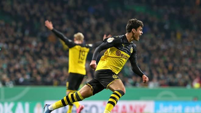 Gegen Werder Bremen trifft Giovanni Reyna das erste Mal für Borussia Dortmund