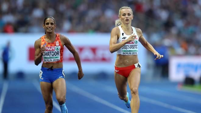 Madiea Ghafoor (l.) galt als große Hoffnungsträgerin der niederländischen Leichtathletik