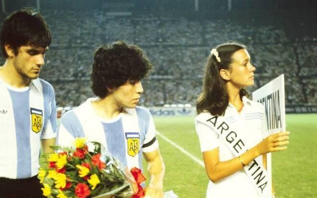 Diego Maradona bei einem U20-Länderspiel 1979