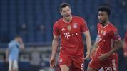 Robert Lewandowski ist auch beim Münchner 4:1-Erfolg bei Lazio Rom unter den Torschützen